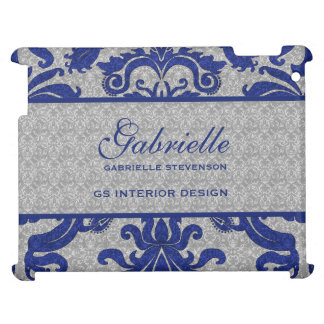 Royal Blue and Silver Damask | Custom Case Case For The iPad 2 3 4