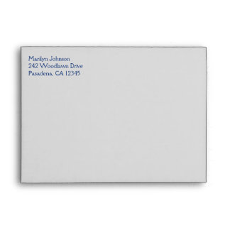 """Royal Blue and Silver Envelope for 5""""x7"""" Sizes"""