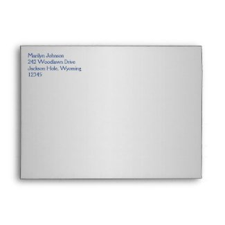 Royal Blue and Silver Envelope for 5x7 Sizes envelope