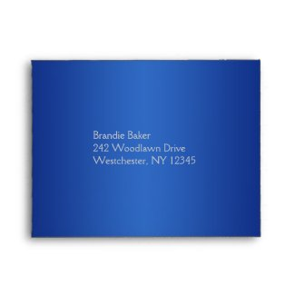 Royal Blue and Silver Envelope for Reply Cards envelope