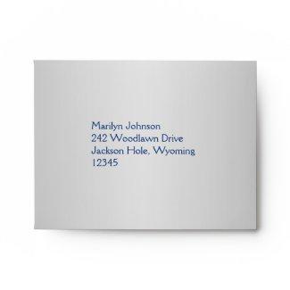 Royal Blue and Silver Envelope for RSVP Card envelope