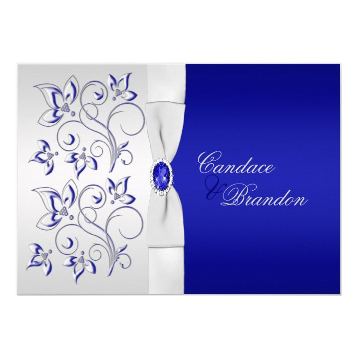 Royal Blue And Silver Wedding Invitation Templates ~ Matik ...