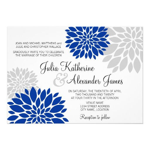 Royal Blue And Silver Wedding Invitations was very inspiring ideas you may choose for invitation ideas