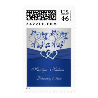 Royal Blue and Silver Postage stamp