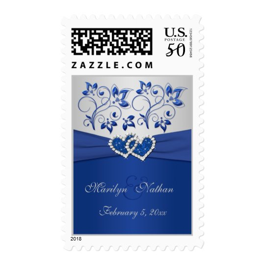 Royal Blue and Silver Postage