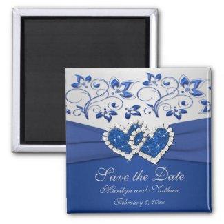 Royal Blue and Silver Wedding Favor Magnet magnet