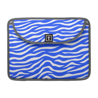 Royal Blue and White Animal Print Zebra Stripes MacBook Pro Sleeve