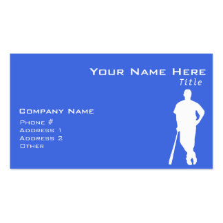 Royal Blue and White Baseball Double-Sided Standard Business Cards (Pack Of 100)