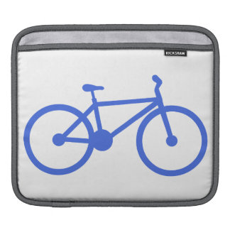Royal Blue and White Bicycle iPad Sleeve