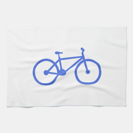 Royal Blue and White Bicycle Kitchen Towels