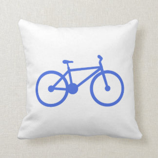 Royal Blue and White Bicycle Pillows