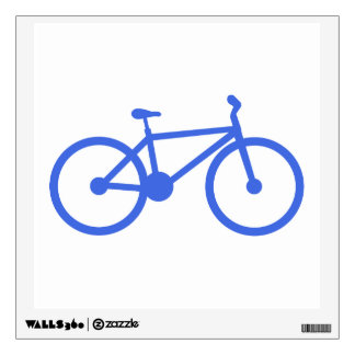 Royal Blue and White Bicycle Wall Skin