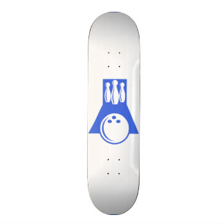 Royal Blue and White Bowling Skateboards