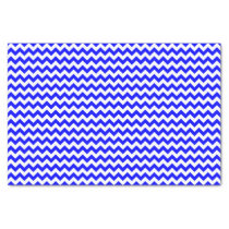 Royal blue and white chevron pattern custom tissue paper