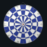 "Royal Blue And White Dartboard With Darts<br><div class=""desc"">Royal Blue And White Dart Board</div>"