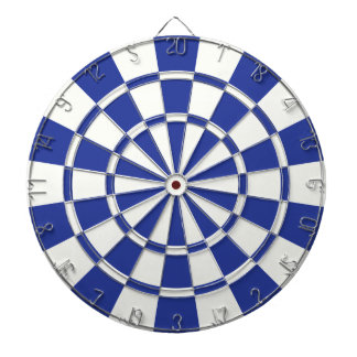 Royal Blue And White Dartboard With Darts