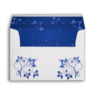 Royal Blue and White Envelope for 5x7 Sizes envelope