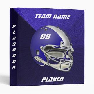 Royal Blue and White Football Helmet Vinyl Binder