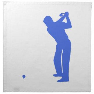 Royal Blue and White Golf Cloth Napkin
