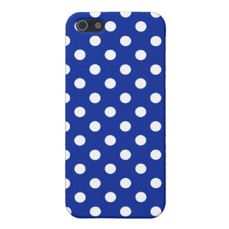 Royal Blue and White Polka Dot iPhone SE/5/5s Cover