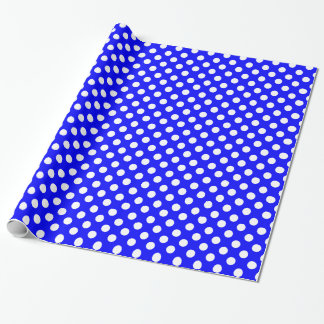 Royal Blue and White Polka Dot Wrapping Paper