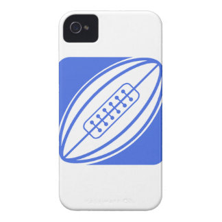 Royal Blue and White Rugby iPhone 4 Case-Mate Case