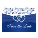 Royal Blue and White Save the Date Card Post Cards