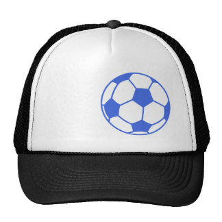Royal Blue and White Soccer Ball Trucker Hat