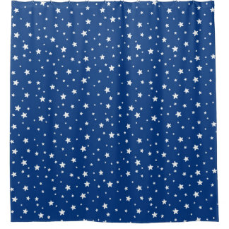 Blue Curtains blue curtains with white stars : Blue Star Shower Curtains | Zazzle