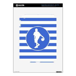 Royal Blue and White Stripes; Basketball iPad 3 Skin