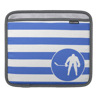 Royal Blue and White Stripes Hockey Sleeve For iPads