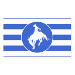 Royal Blue and White Stripes; Rodeo Cowboy Double-Sided Standard Business Cards (Pack Of 100)