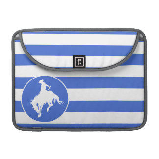 Royal Blue and White Stripes; Rodeo Cowboy Sleeve For MacBook Pro