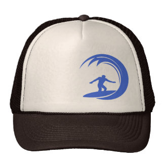 Royal Blue and White Surfing Trucker Hat
