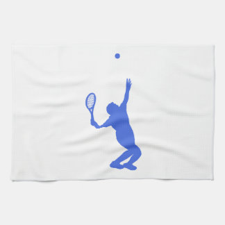 Royal Blue and White Tennis Towel