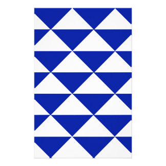 Royal Blue and White Triangles Stationery