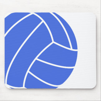Royal Blue and White Volleyball Mouse Pad