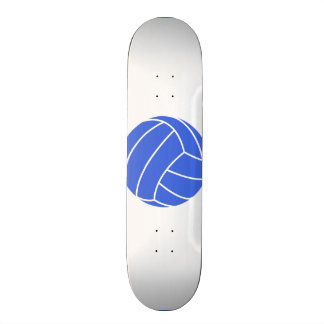Royal Blue and White Volleyball Skateboard Deck