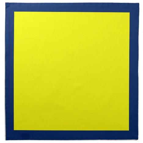 Royal Blue and Yellow Napkins