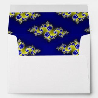 Royal Blue and Yellow Swirls Envelopes
