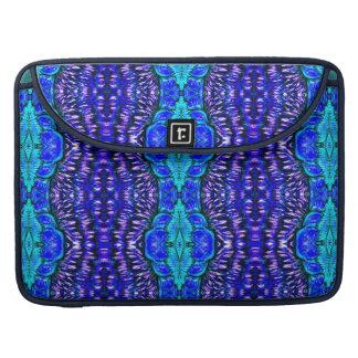 royal blue aqua hippie tiedye MacBook Sleeve Case