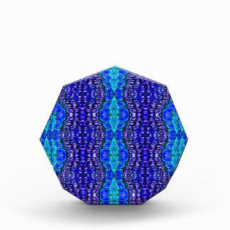 royal blue aqua hippie tiedye rug pattern acrylic award