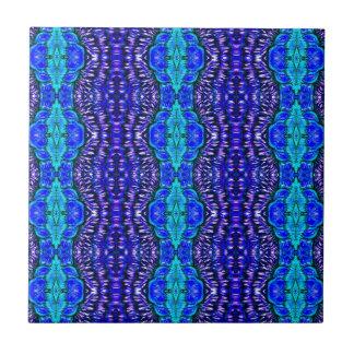 royal blue aqua hippie tiedye rug pattern ceramic tile