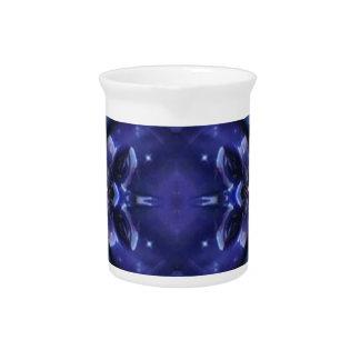 Royal Blue Aquamarine Modern Artistic Abstract Beverage Pitcher