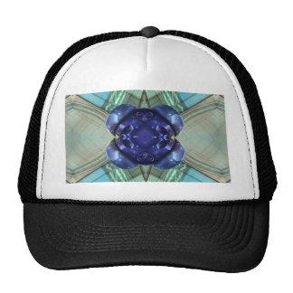Royal Blue Aquamarine Modern Artistic Abstract Trucker Hat