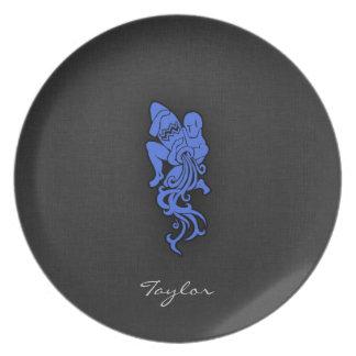 Royal Blue Aquarius Plate