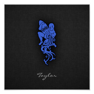 Royal Blue Aquarius Poster