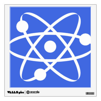 Royal Blue Atom Wall Sticker