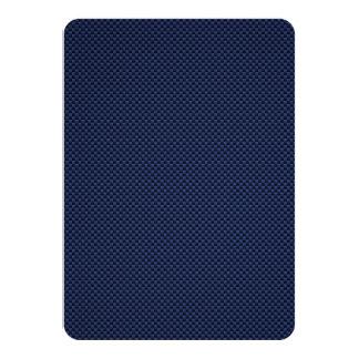 Royal Blue Automotive Carbon Fiber Weave Print Card