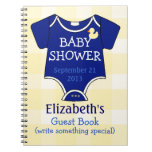 Royal Blue Baby Shower Spiral Notebook